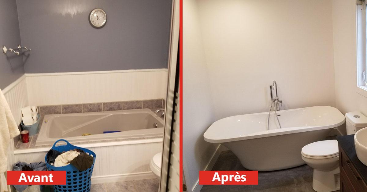 bain moderne, nouveau bain, bain sur mesure, rénovation bain